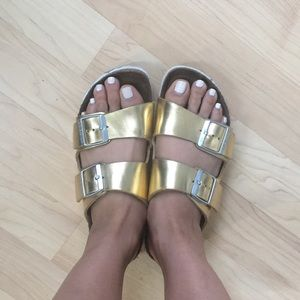 BIRKENSTOCKS gold arizona